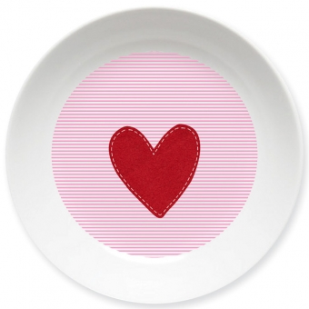 Kinderteller Herz Mädchen rosa