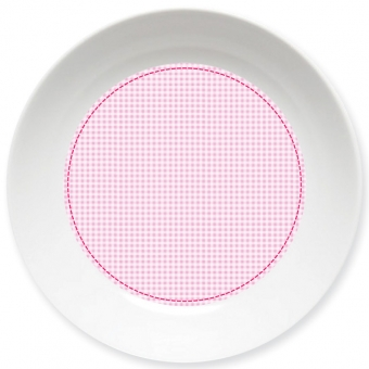 Kleinkariert Mädchen Kleiner Teller rosa