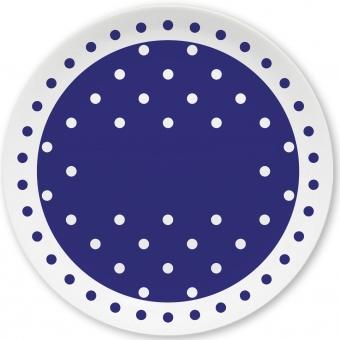 Pünktchen Kleiner Teller (dunkelblau)