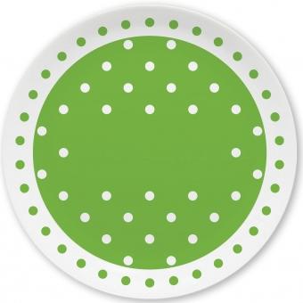 Pünktchen Kleiner Teller (hellgrün)