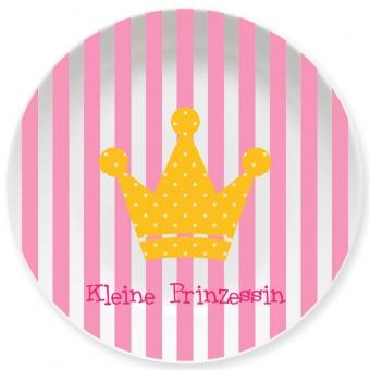 Prinzessin Kleiner Teller rosa