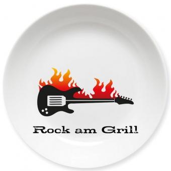 Rock am Grill Kleiner Teller bunt