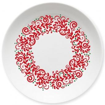 Weihnachtskranz Kleiner Teller dunkelrot
