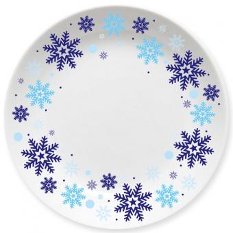 Winterzauber Kleiner Teller blau