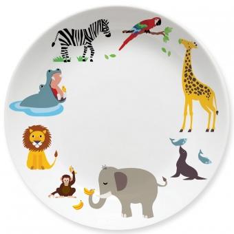 Kinderteller Zoo bunt