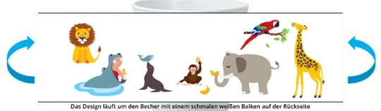 Zoo Becher bunt